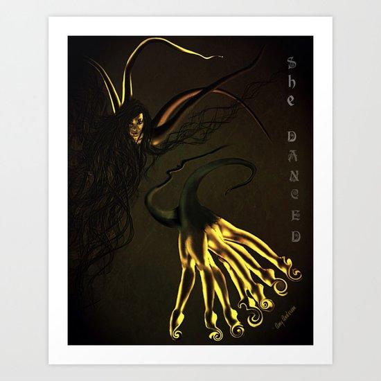 She Danced Art Print