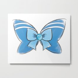 Sailor Mercury Bow Metal Print