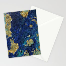 Indigo Teal and Gold Ocean Stationery Cards