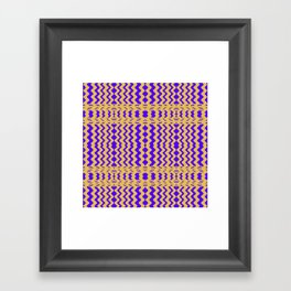 Bright Purple Yellow Wavy Lines Framed Art Print