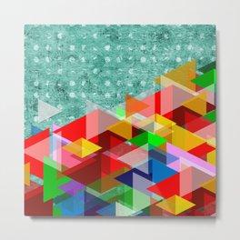 Polka Dot Colorful Abstract Art Metal Print