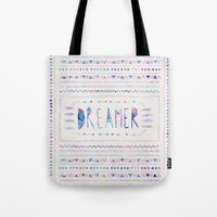 dreamer Tote Bags featuring DREAMER by Bianca Green