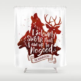 I solemnly swear - white Shower Curtain