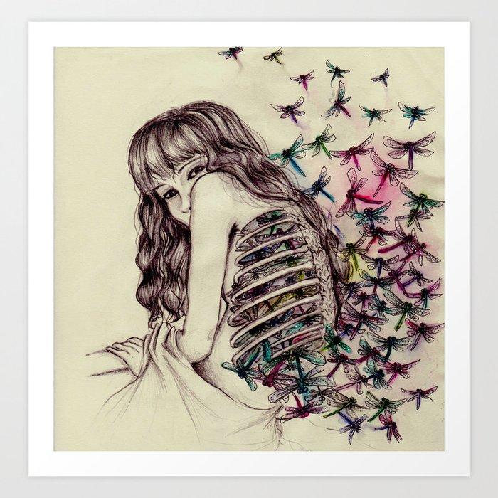 Dragonflies  Art Print
