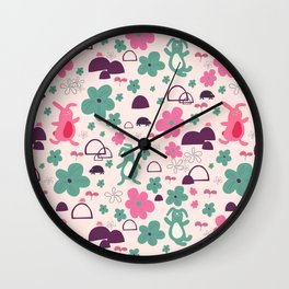 The safety blanket - Fabric pattern Wall Clock