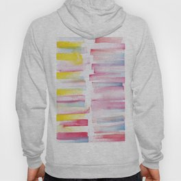 9 | 181101 Watercolour Palette Abstract Art | Lines | Stripes | Hoody