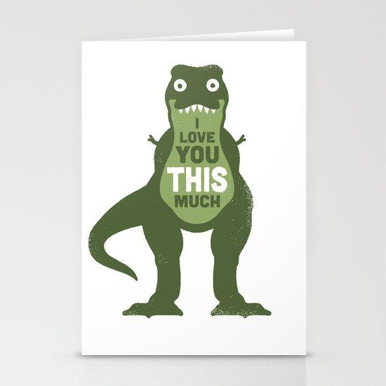Amourosaurus Stationery Cards