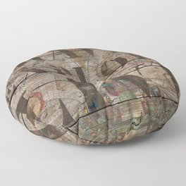 Travel Explore Live (Old Map) Floor Pillow