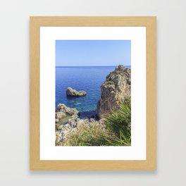 Zarbo de Mare, Sicily Framed Art Print