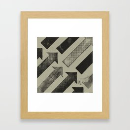 Garbage Arrows 2 Framed Art Print