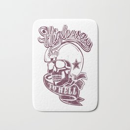 Highway to hell skull Bath Mat