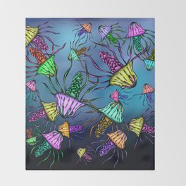 Stinging Party Throw Blanket