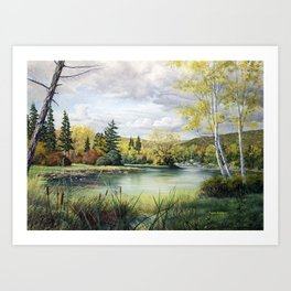 Favourite Fishing Spot Art Print