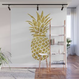 Golden Pineapple Wall Mural