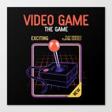 Video Game Canvas Print