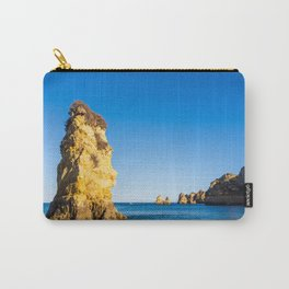 Turquoise waters and cliffs of Praia Dona Ana beach in Algarve, Portugal Carry-All Pouch