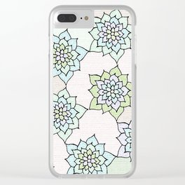 zakiaz white lotus Clear iPhone Case