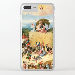 The Haywain Triptych by Bosch 1519 Clear iPhone Case