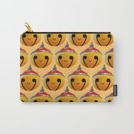 Christmas Bells Orange Carry-All Pouch