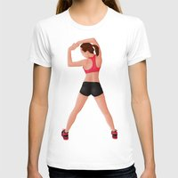 fitness T-shirts featuring Pin Up Sports Fitness by Gerome Hajost