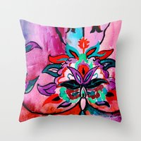 ruby Throw Pillows featuring Ruby by Sonal Nathwani