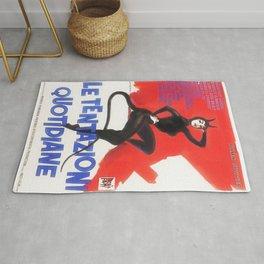 The Devil and the Ten Commandments 1962 Italian Due Fogli Film Poster Rug