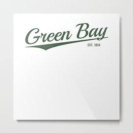Retro Classic City of Green Bay Wisconsin Vintage Metal Print