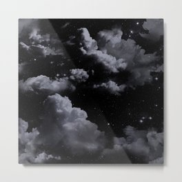 Night Sky with Clouds Metal Print