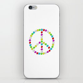 Peace cats in colour iPhone Skin