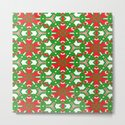 Red, Green and White Kaleidoscope 3373 by celestesheffey