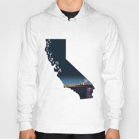 santa monica Hoodies featuring California: Santa Monica Pier by Brooke Loeffler