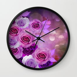 Rose Glow Abstract Wall Clock