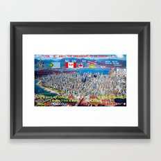 VANCOUVER - THE GREATEST CITY ON EARTH !!!!! BRITISH COLUMBIA - THE BEST PLACE ON EARTH !!!!! Framed Art Print