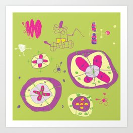 Flower Planets Art Print