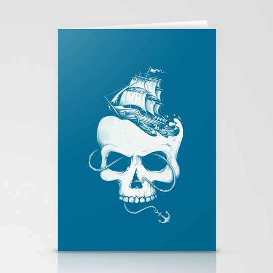 Sailing the Dead Sea Stationery Cards