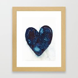 I left my heart by the ocean. Framed Art Print