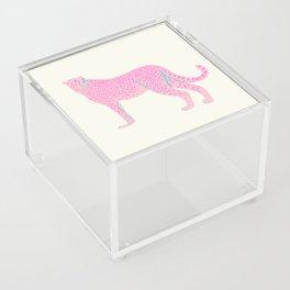 PINK STAR CHEETAH Acrylic Box