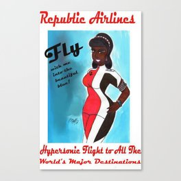 Miriyum of Republic Airlines Canvas Print