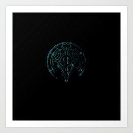 fullmetal alchemist blue Art Print
