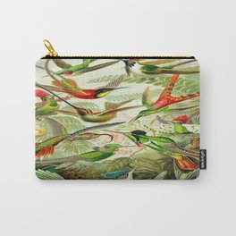 Kunstformen der Natur (Art Forms in Nature)a book of lithographic and halftones. Hummingbirds Carry-All Pouch