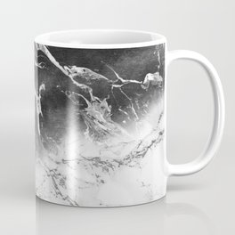 Modern black and white marble ombre watercolor color block Coffee Mug