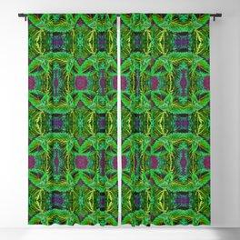 Green Coleus Ornamental Plant - Botanical Art Illustration Blackout Curtain