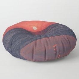 Restless Sunset Floor Pillow