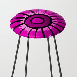 Talavera Hot Pink Counter Stool