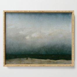Caspar David Friedrich - The Monk by the Sea Serving Tray