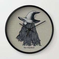 Grey Wizard Wall Clock