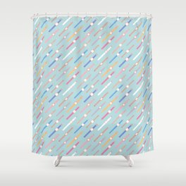 My colourful Watches Shower Curtain