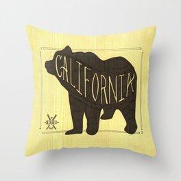 California Black Bear  Throw Pillow