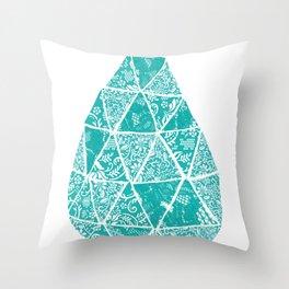 Drop of lace Throw Pillow