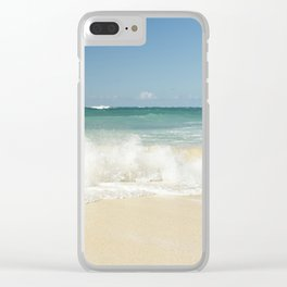 beach love shoreline serenity Clear iPhone Case